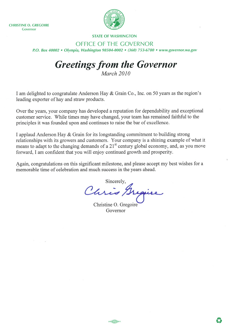 Letter from the governor 742 pixel
